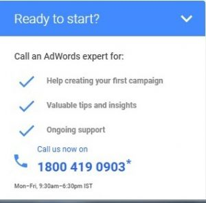 adwords support india