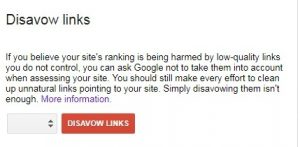 disavow links tool